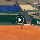 Federer on clay court