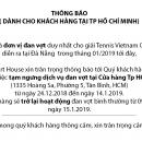 Tạm ngưng dịch vụ căng vợt tại Tp HCM từ 24/12/2018 - 14/1/2019
