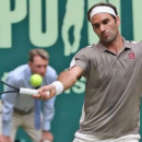 Federer thắng nhọc Tsonga ở giải sân cỏ Halle Mở rộng