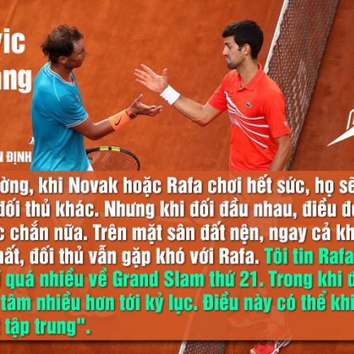 Chuyên gia ATP: 'Djokovic khó thắng Nadal'