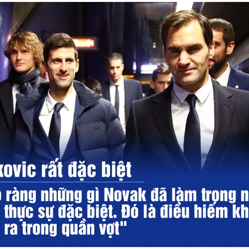 Federer: 'Djokovic rất đặc biệt'