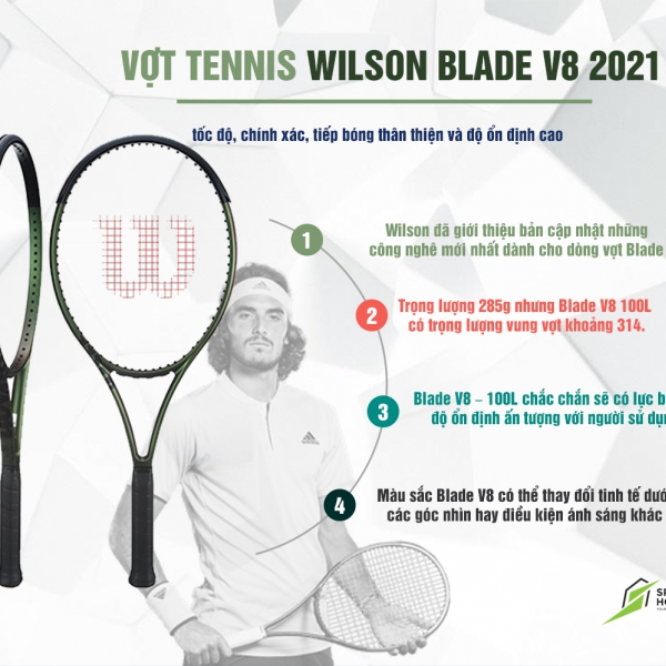 Giới thiệu Vợt Tennis Wilson Blade 100L v8 (285gr)