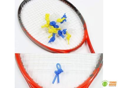 Giảm rung vợt tennis Taan dạng chun buộc (Trắng, Vàng, Xanh)