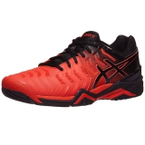 Giày tennis Asics Gel Resolution 7 Red/Black (E701Y-801)