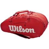 Túi tennis Wilson Super Tour 2 Đỏ x9 (WRZ840809)