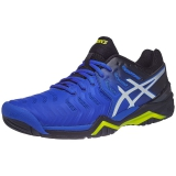 Giày tennis Asics Gel Resolution 7 Blk/Bl/Ye (E701Y-407)