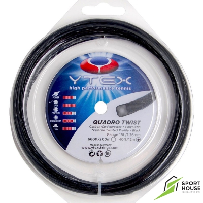 Dây tennis Ytex Quadro Twist 16L 1.26 (Vỷ 12m)