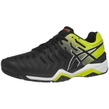 Giày tennis Asics Gel Resolution 7 Blk/Ye/Or (E701Y-003)