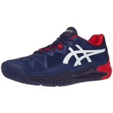 Giày Tennis Asics Gel Resolution 8 Navy/White/Red (1041A079.400)