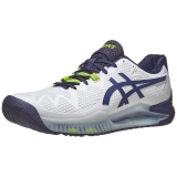 Giày Tennis Asics Gel Resolution 8 White/Peacoat (1041A113.102)