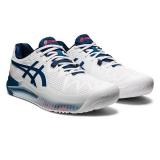 Giày Tennis Asics Gel Resolution 8 White/Mako Blue (1041A079.103)