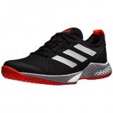 Giày Tennis Adidas Court Control Black/White/Solar Red (H00940)